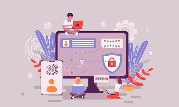 Ilustração de proteção de dados