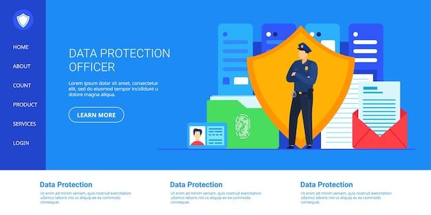 Ilustração de proteção de dados.
