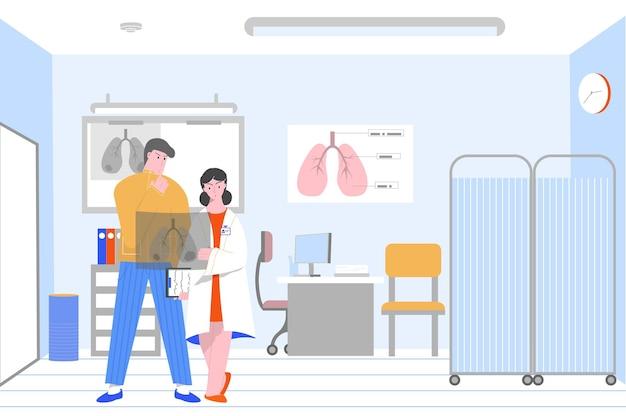 Ilustração de pulmões doentios para fumar
