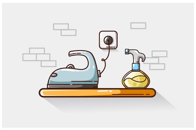 Ilustração de purificador de roupas e engomadoria