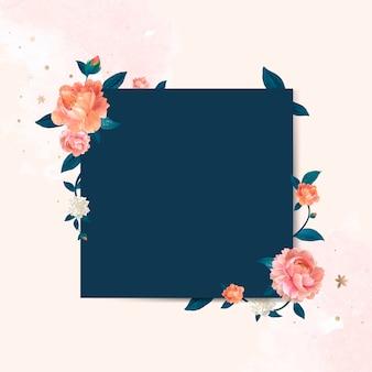 Ilustração de quadro de maquete floral