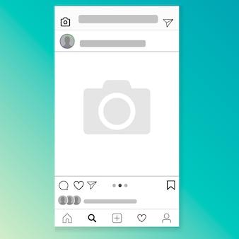 Ilustração de quadro de rede social Vetor Premium