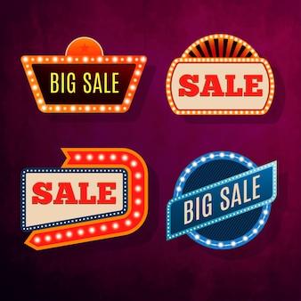 Ilustração de quadros de vendas.