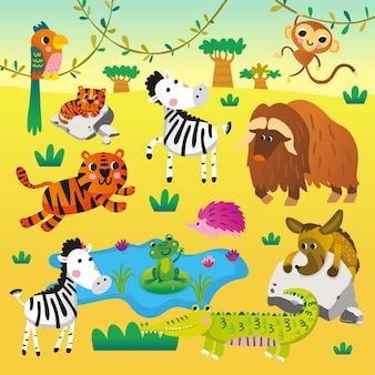 Ilustração de quebra-cabeça de letras e letras correspondentes com design fofo para a educação de crianças