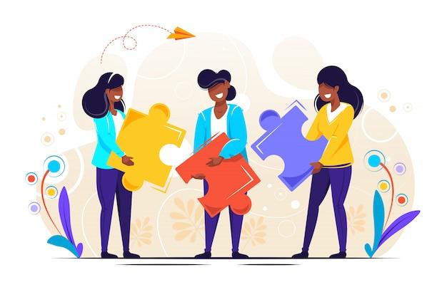 Ilustração de quebra-cabeça