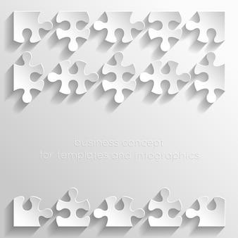 Ilustração de quebra-cabeças de papel