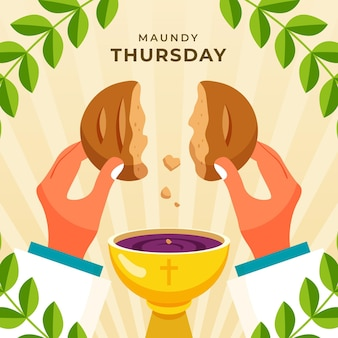 Ilustração de quinta-feira santa
