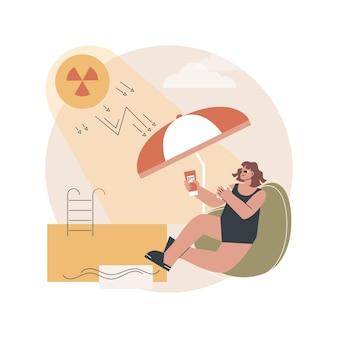 Ilustração de radiação ultravioleta