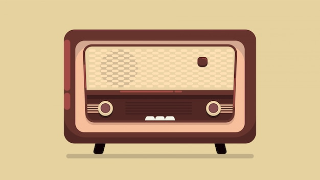 Ilustração de rádio vintage