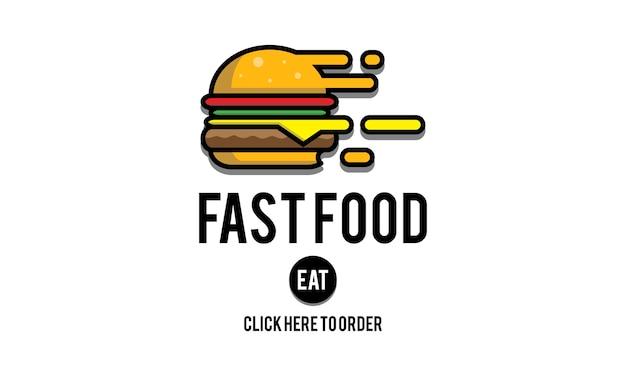 Ilustração, de, rapidamente, alimento
