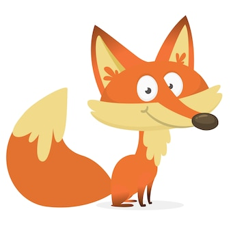 Ilustração de raposa dos desenhos animados