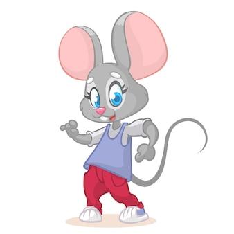 Ilustração de rato engraçado dos desenhos animados