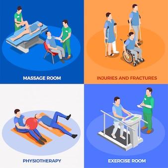 Ilustração de reabilitação fisioterapia