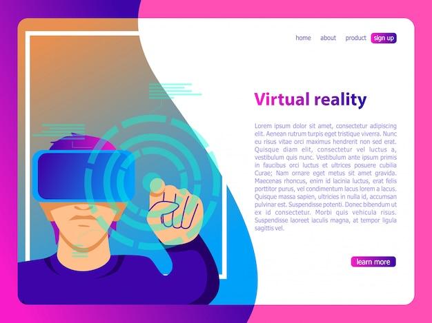 Ilustração de realidade virtual