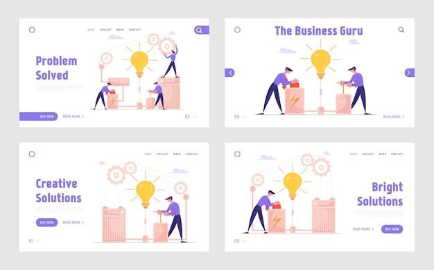 Ilustração de realização de ideia financeira