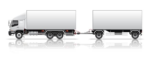 Ilustração de reboque van