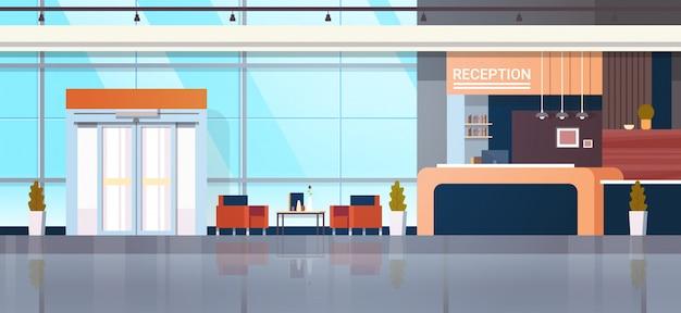 Ilustração de recepção com lobby