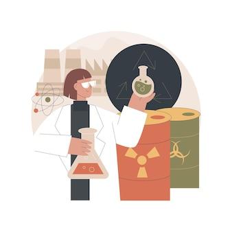 Ilustração de reciclagem química