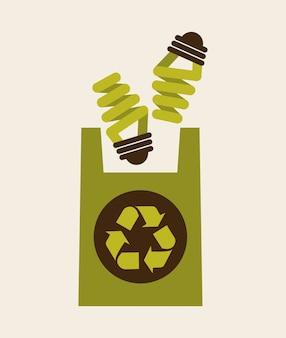Ilustração de reciclagem