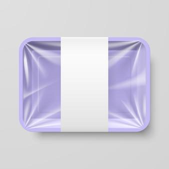 Ilustração de recipiente de plástico para alimentos