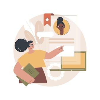 Ilustração de recrutamento de especialista