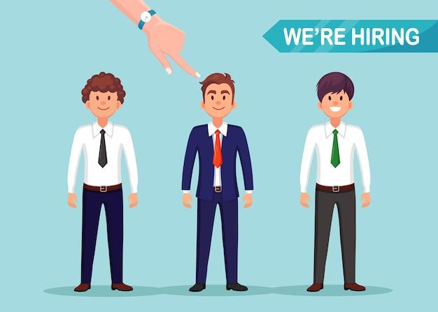 Ilustração de recrutamento de negócios