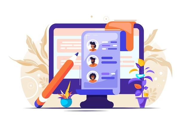 Ilustração de recursos humanos do conceito