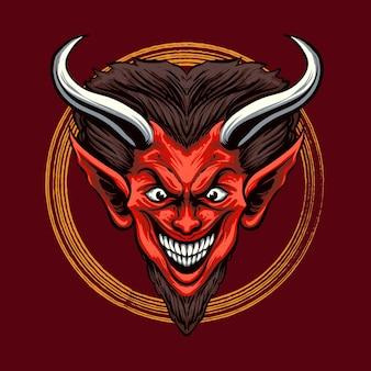 Ilustração de red devil head