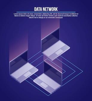Ilustração de rede de dados