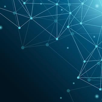 Ilustração de rede neural azul