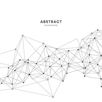 Ilustração de rede neural branca