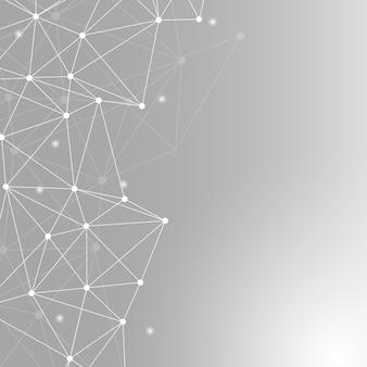 Ilustração de rede neural cinza