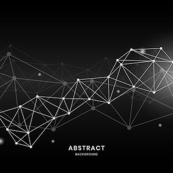 Ilustração de rede neural negra
