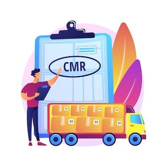 Ilustração de regulamento de transporte internacional