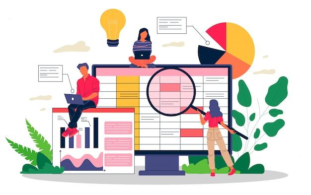 Ilustração de relatório de contabilidade