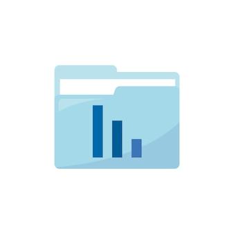 Ilustração, de, relatório, pasta, ícone