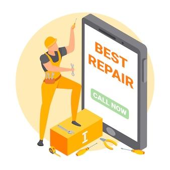Ilustração de reparador