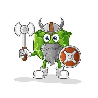 Ilustração de repolho viking com machado