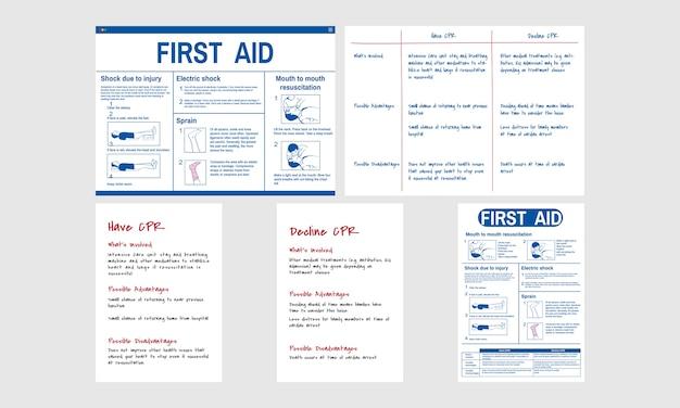 Ilustração de resgate de emergência cpr