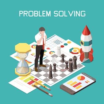 Ilustração de resolução de problemas