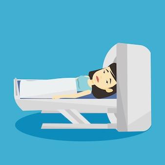 Ilustração de ressonância magnética.