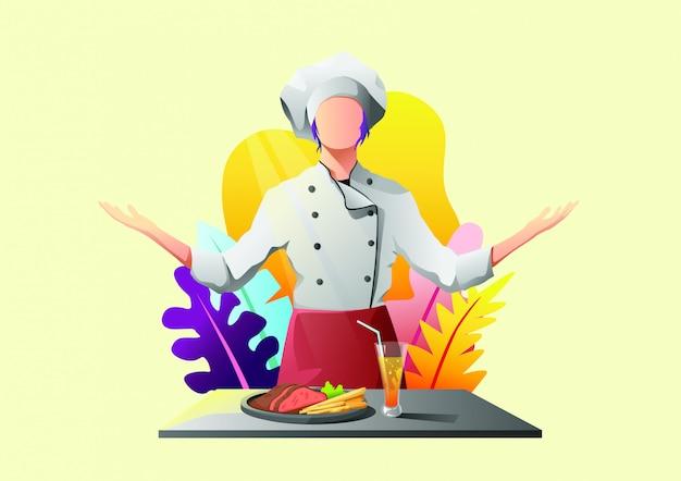 Ilustração de restaurante web