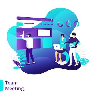 Ilustração de reunião de equipe