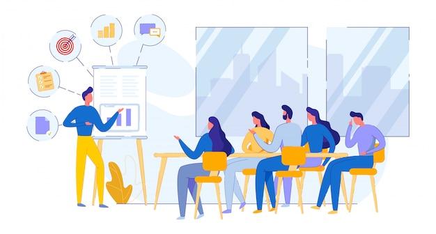 Ilustração de reunião planador daily flat.