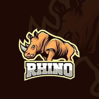 Ilustração de rinoceronte