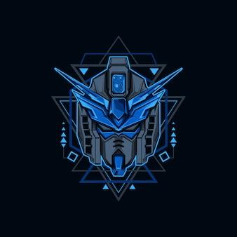 Ilustração de robô azul de ferro