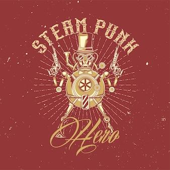 Ilustração de robô steampunk