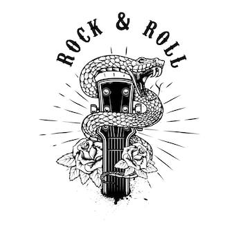 Ilustração de rock and roll