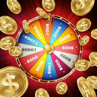 Ilustração de roda da fortuna