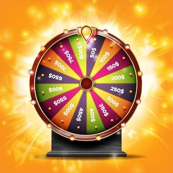 Ilustração de roda de fortuna